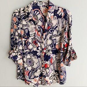 Express Portofino Floral Slim Fit Shirt